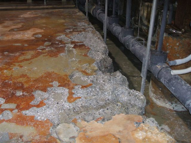 Delta air lines flying high with containment coatings for Hydrochloric acid for cleaning concrete