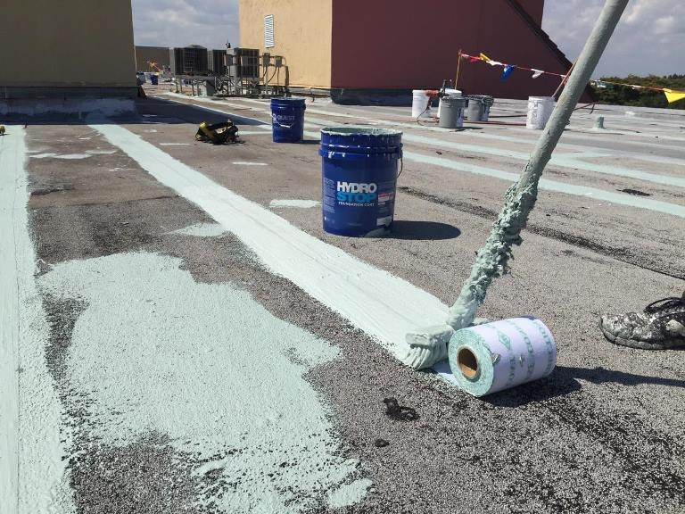 ... It Was Time For The Application Of The Unisil Primer Using A Graco  Airless Sprayer. The Two Component Water Borne Epoxy Primer Has A 1:1 ...