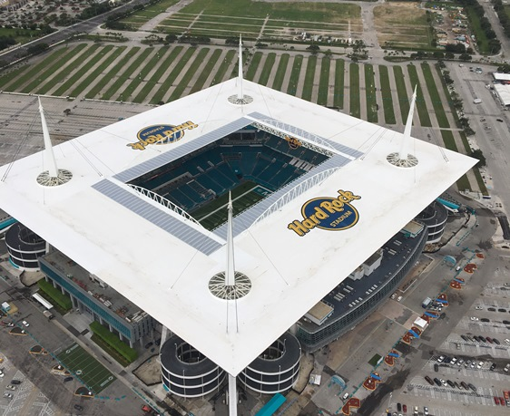 Touchdown New Logo For Dolphins Stadium Roof